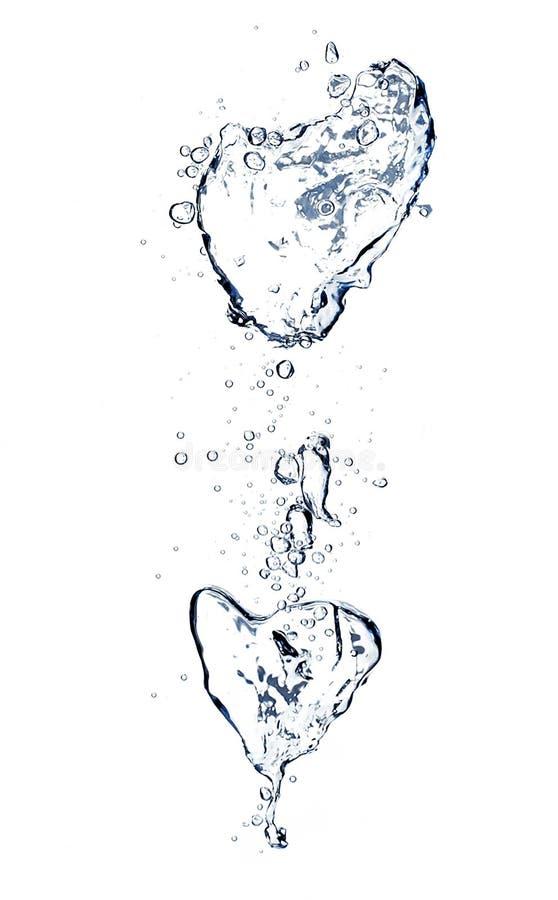 L'eau en cristal et baisses photo libre de droits