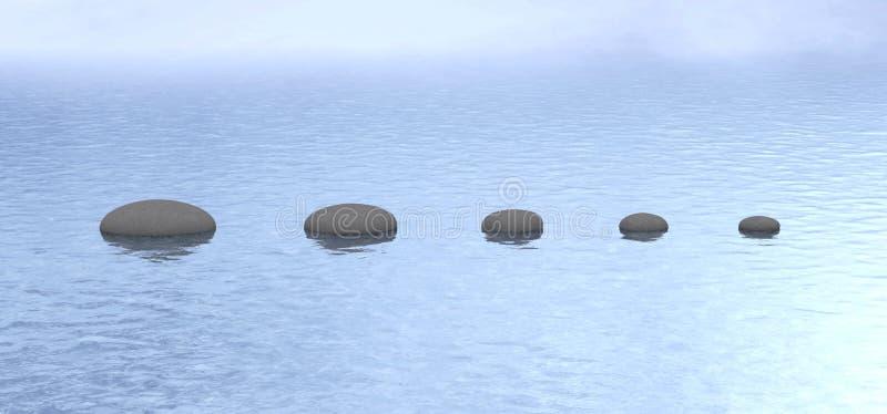 L'eau en pierre de paix de chemin photographie stock