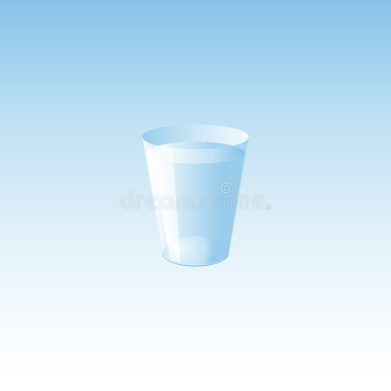 l'eau en verre illustration de vecteur