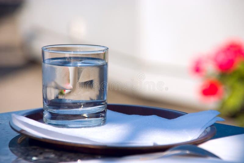 L'eau en verre de ?f photo libre de droits