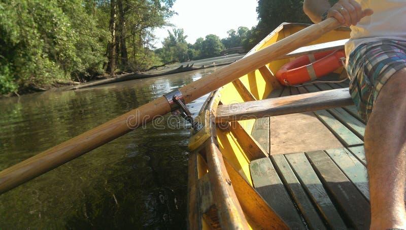 L'eau et bateau photo libre de droits