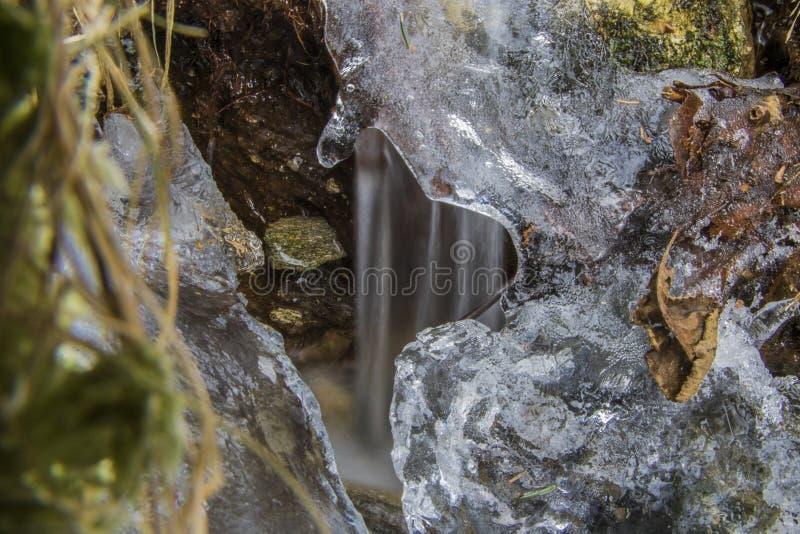 L'eau et glace photographie stock