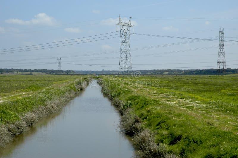 L'eau et l'électricité photographie stock