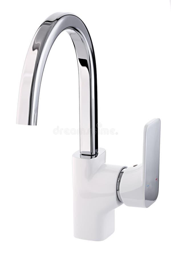 L'eau froide-chaude de mélangeur Salle de bains moderne de robinet Robinet de cuisine I images stock
