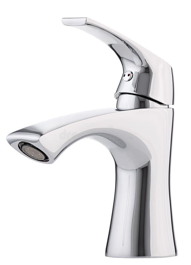 L'eau froide-chaude de mélangeur Salle de bains moderne de robinet Robinet de cuisine I image stock