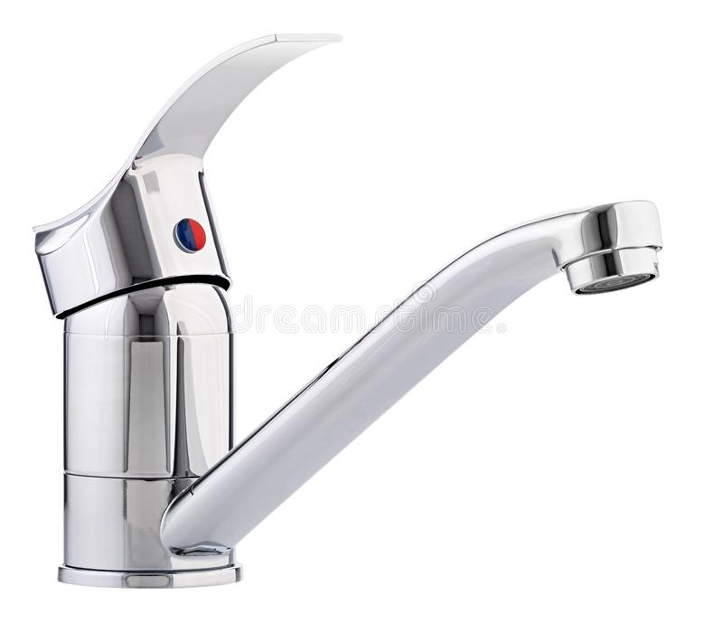 L'eau froide-chaude de mélangeur Salle de bains moderne de robinet Robinet de cuisine I images libres de droits