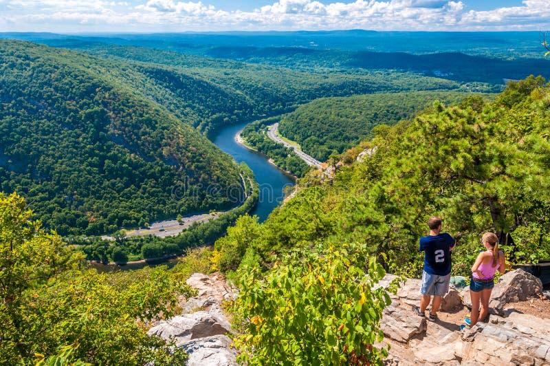 L'eau Gap du Delaware images libres de droits