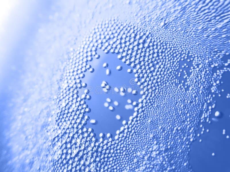 L'eau minérale de bulle photographie stock libre de droits