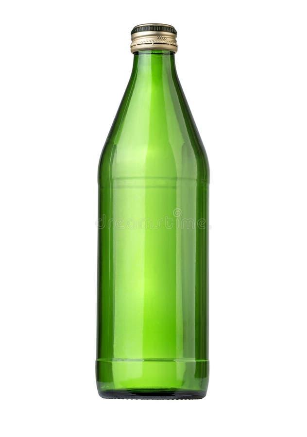 L'eau minérale en verre bottle images libres de droits