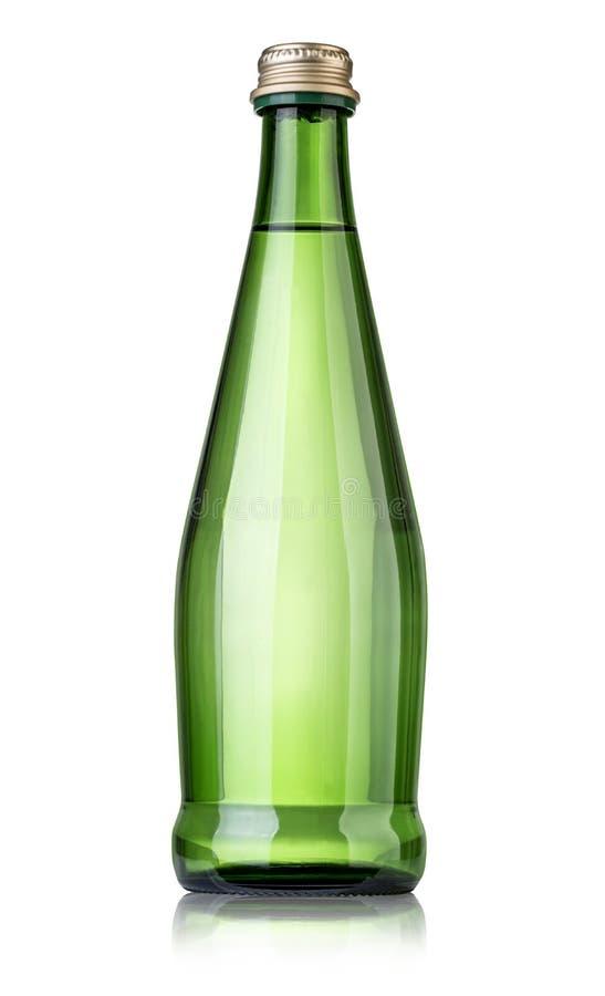 L'eau minérale en verre bottle photos libres de droits