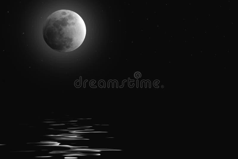 l'eau moonlit illustration stock