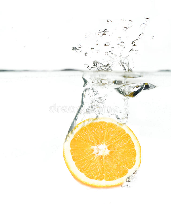 l'eau orange image stock