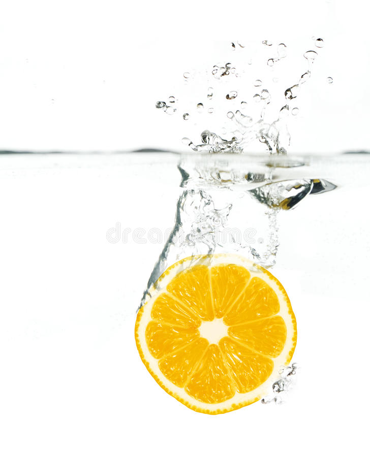 l'eau orange photographie stock