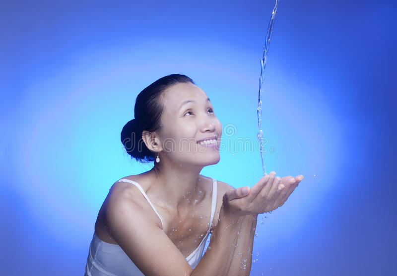 L'eau régénératrice. photographie stock