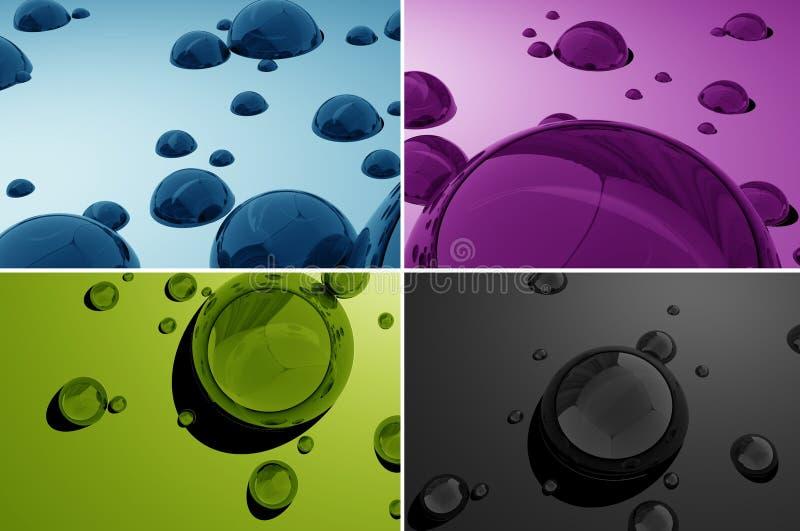 L'eau relâche 3D illustration stock