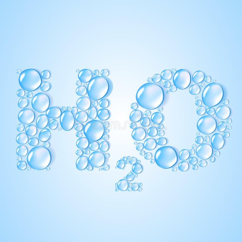 L'eau relâche H2O formé - fond de vecteur illustration de vecteur