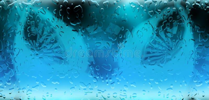 L'eau relâche le bakground illustration de vecteur
