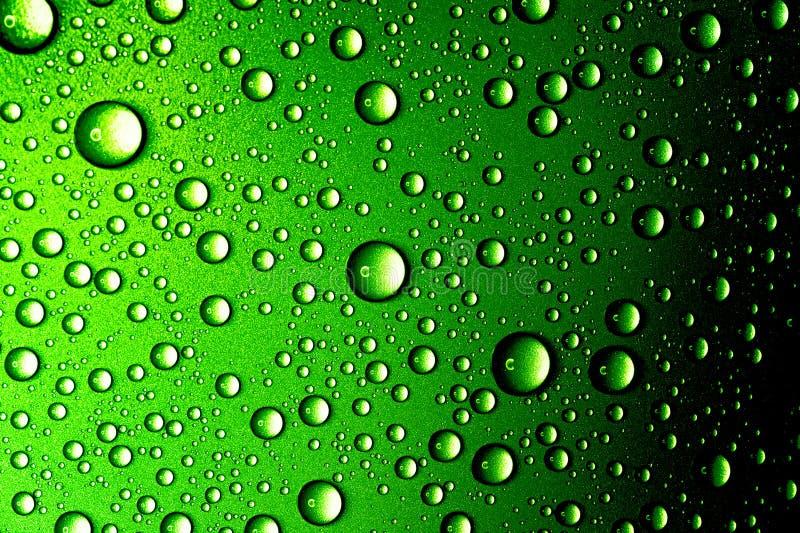 L'eau relâche le plan rapproché Fond vert abstrait photos stock