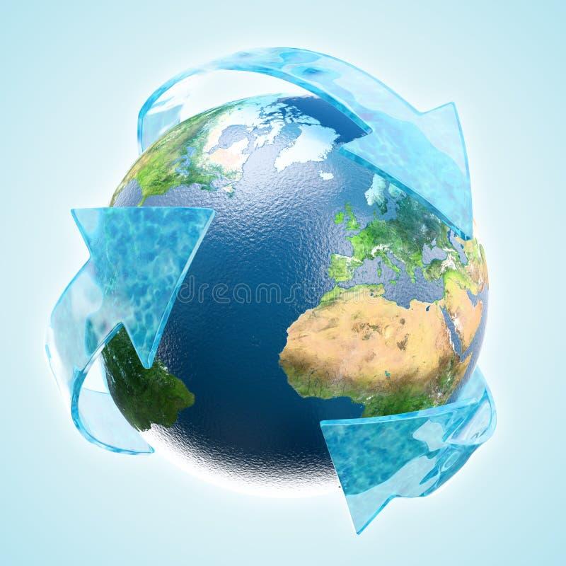 L'eau renouvelable illustration de vecteur