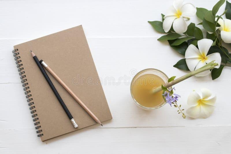 L'eau saine de fines herbes de cocktail de styrup de gingembre de boissons photos libres de droits