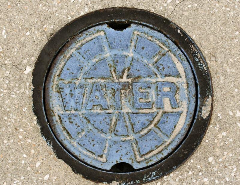 L'eau signent dedans meulé image libre de droits