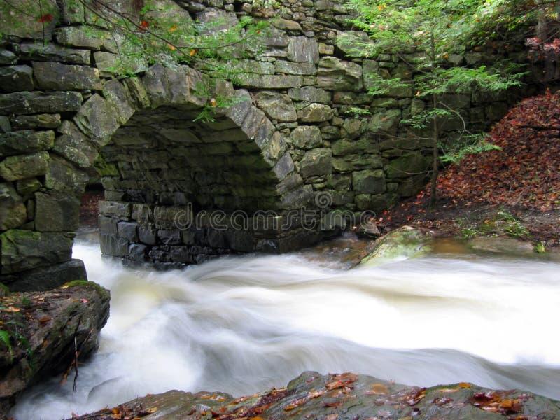 L'eau sous la passerelle photographie stock