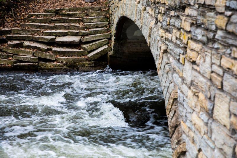 L'eau sous la passerelle images libres de droits