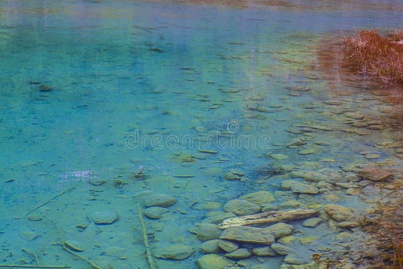 L'eau transparente de lac images libres de droits