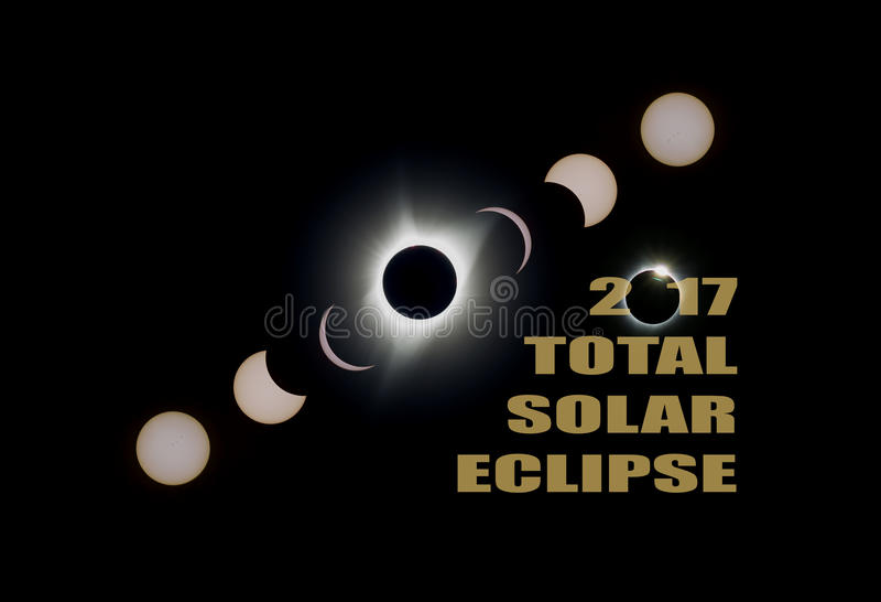 L'eclissi solare totale 2017 sincronizza U.S.A. America fotografia stock libera da diritti