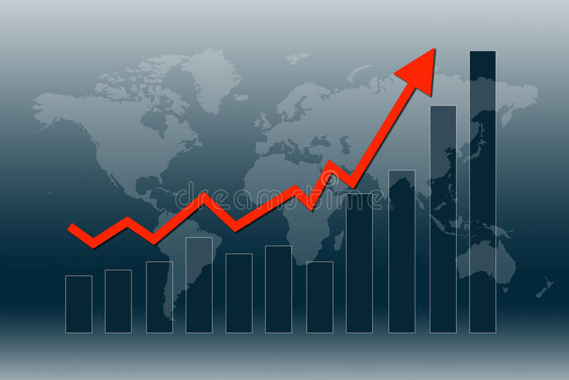 L'economia mondiale recupera illustrazione di stock