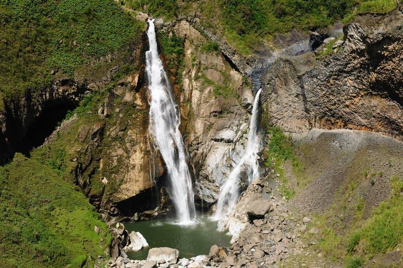 L'Ecuador, cascata di Banos immagine stock libera da diritti