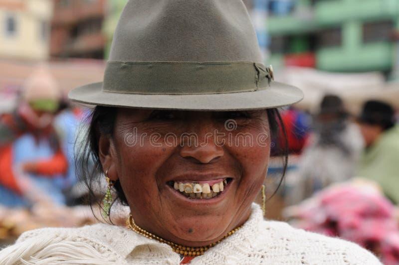 L'Ecuador, donna latina etnica fotografie stock
