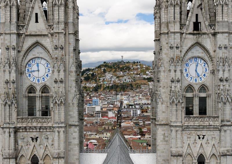 L'Ecuador, vista su Quito immagine stock libera da diritti