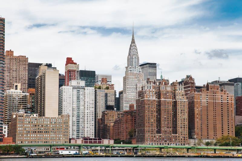 L'edificio di Chrysler dal East River fotografia stock libera da diritti