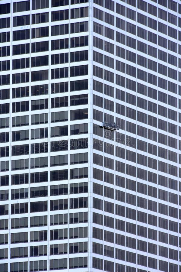 L'edificio di Milwaukee che ha Windows ha lavato fotografia stock libera da diritti