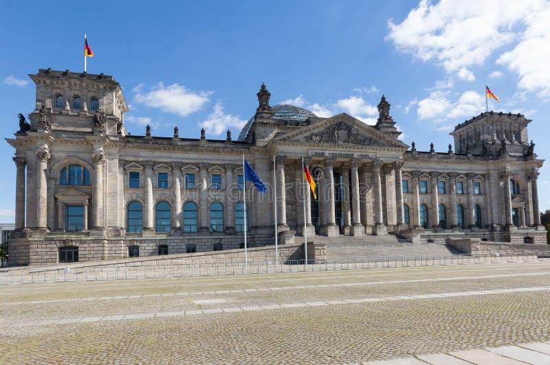 L'edificio di Reichstag a Berlino, Parlamento tedesco immagine stock libera da diritti