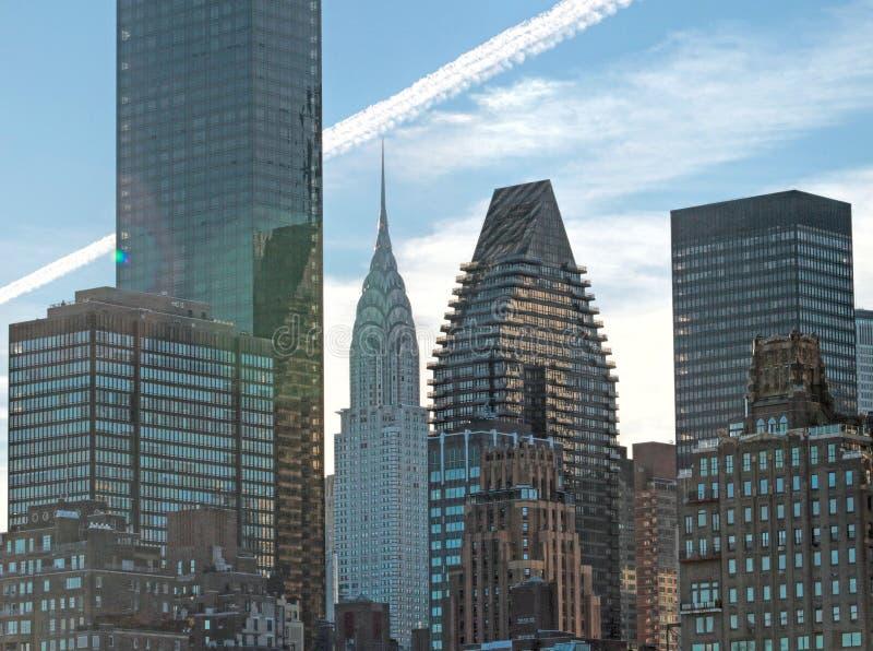 L'edificio famoso di Chrysler, al centro, in NYC fotografia stock libera da diritti