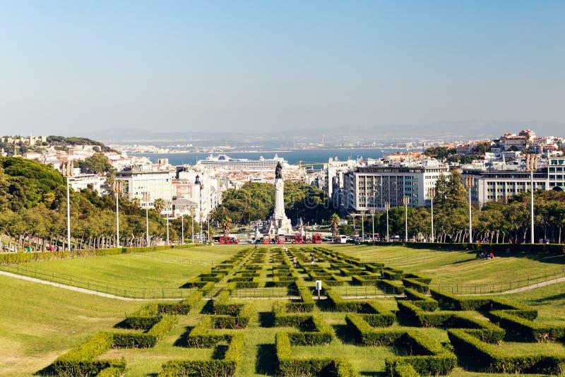 L'Edouard VII se gare à Lisbonne photographie stock