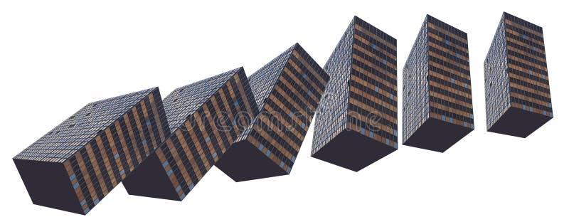 l'effet de domino de constructions a effectué à l'extérieur photographie stock
