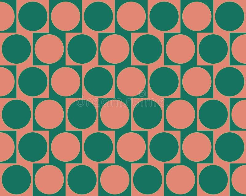 L'effet de mur de café d'illusion optique entoure le rose illustration de vecteur