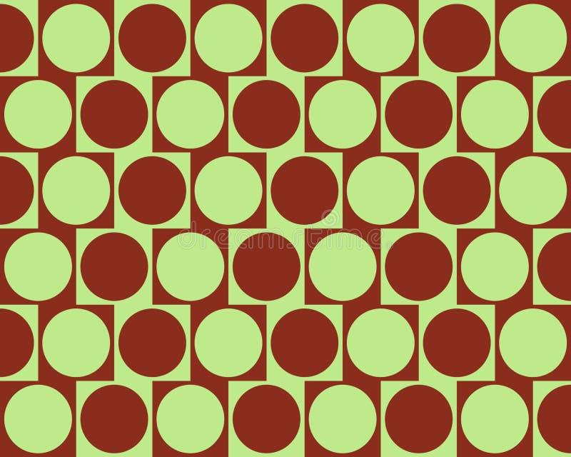 L'effet de mur de café d'illusion optique entoure rouge-foncé illustration stock