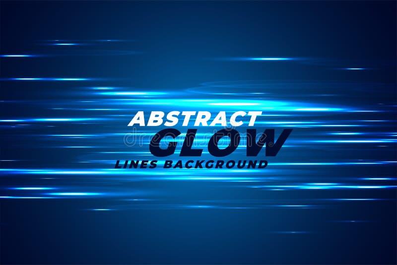 L'effetto della luce blu dell'estratto emette luce fondo royalty illustrazione gratis