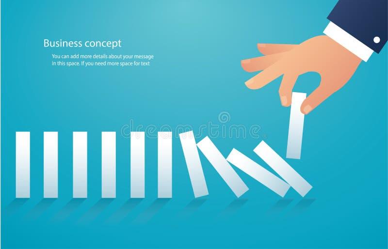 L'effetto di domino illustrazione eps10 di vettore di concetto di affari royalty illustrazione gratis