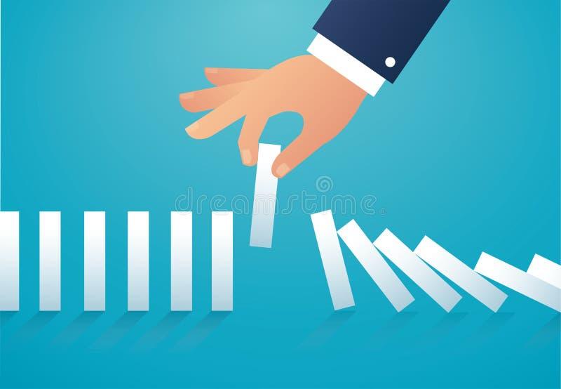 L'effetto di domino illustrazione eps10 di vettore di concetto di affari illustrazione di stock