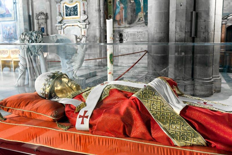 L'effigie di Papa Gregorio X immagini stock libere da diritti
