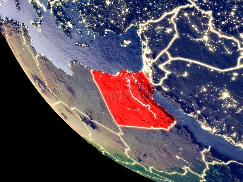 L'Egitto da spazio su terra fotografia stock libera da diritti