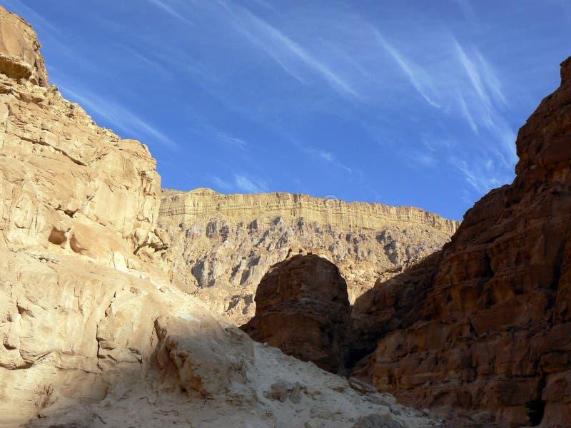 L'Egitto ha colorato il canyon 1 immagini stock libere da diritti