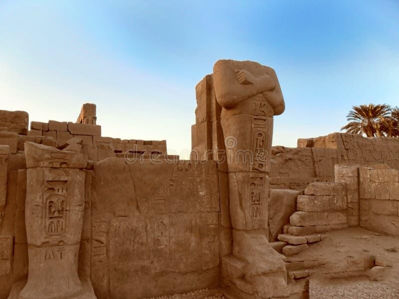 L'Egitto, Nord Africa, tempio di Luxor, Karnak immagine stock libera da diritti