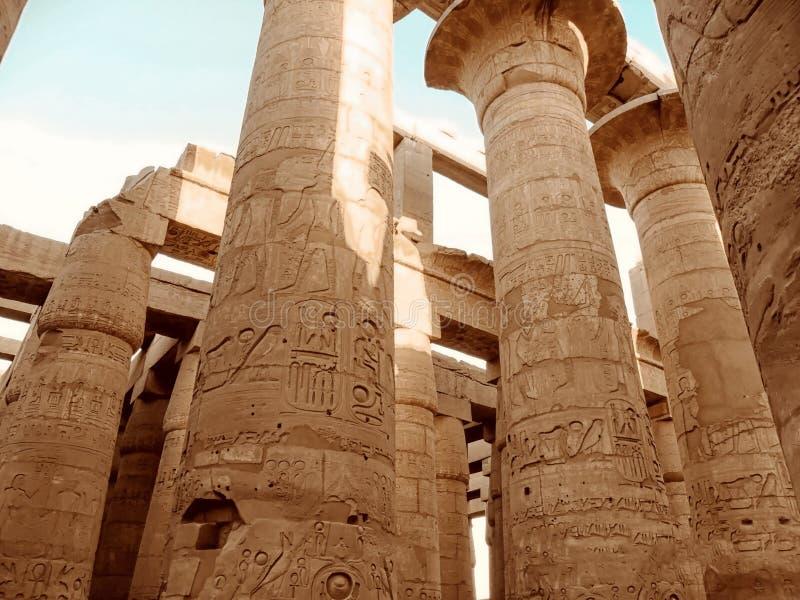 L'Egitto, Nord Africa, tempio di Luxor, Karnak fotografia stock
