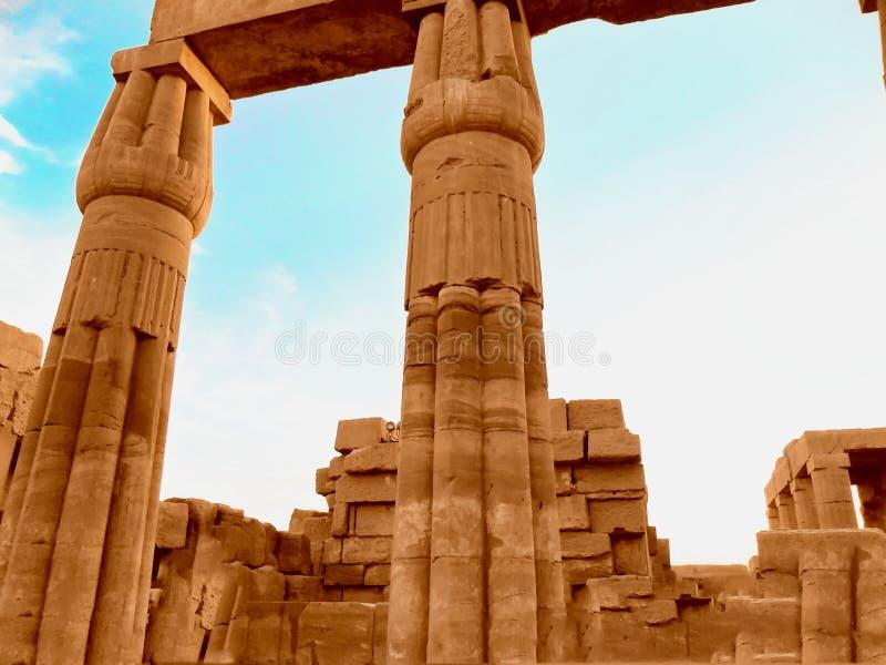 L'Egitto, Nord Africa, tempio di Luxor, Karnak fotografia stock libera da diritti